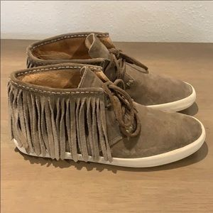 Authentic Frye suede leather sneakers size 8.5